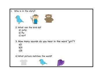 R controlled vowel assessment Grade 1