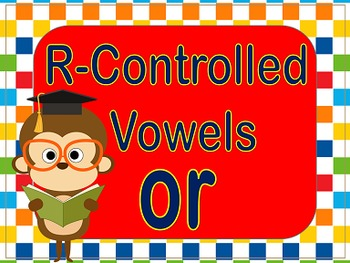 R controlled vowel 'OR'  Power Point and Printables