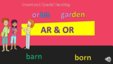 R controlled vowels AR & OR Power point & Google Slides Un