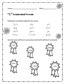 R controlled vowels NO PREP