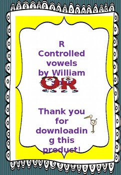 R controlled vowels. Or