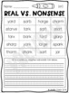 R-controlled vowels Real and Nonsense Word Sorts (digital and paper)
