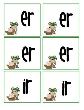R controlled vowels er/ir/ur