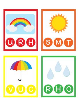 R for Rainbow Printable Preschool U for Umbrella Curriculum Homeschool Pre-K