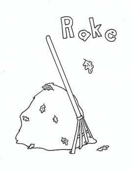 R for Rake coloring page