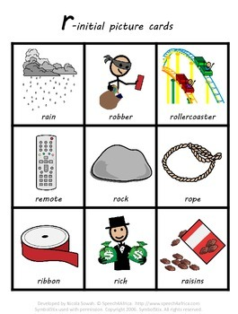 R-initial Articulation Cards