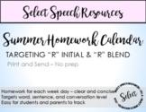 R initial & R blend 2019 Summer Homework Calendar