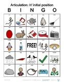 R initial position Articulation Bingo with SymbolStix