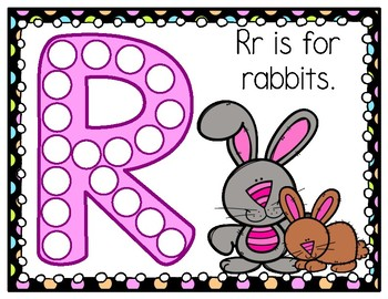 R is for Rabbit Activity Pack Alphabet Common Core Preschool Toddler