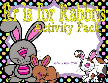 R is for Rabbit Activity Pack Alphabet Common Core Prescho