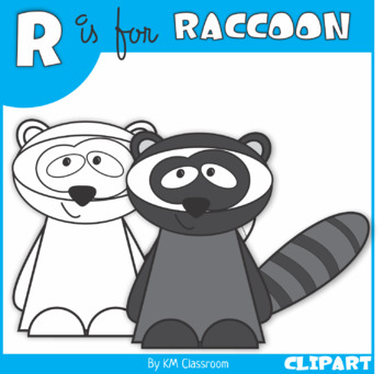 R is for Raccoon Clip Art