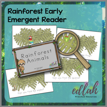 R is for Rainforest Themed Preschool Lesson Plans (one week curriculum)