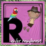 R is for Rainforest Themed Unit-Preschool Lesson Plans  -