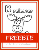 R is for Reindeer FREEBIE