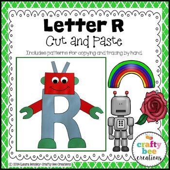 Letter R (Robot) Cut and Paste