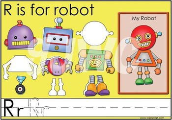 R is for Robot File Folder Game