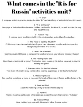 R is for Russian Activities!