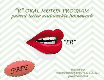 R oral motor ~ Freebie