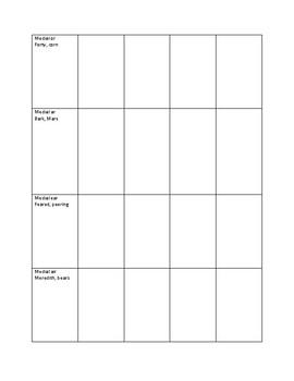 R Sound Articulation Data Chart - Speech Therapy