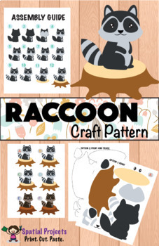 RACCOON NONFICTION UNIT (Craft Pattern and Lap book Included)