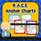 RACE Chevron Print Anchor Chart- CCSS Writing, Citing Evidence- Open Response