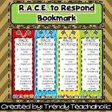 RACE Bookmark (RACE Unit)- CCSS Text Dependent/ Citing Evi