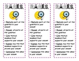 R.A.C.E.S. Bookmark (using evidence to answer a question)