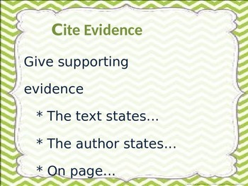 RACE Citing Evidence Poster Set