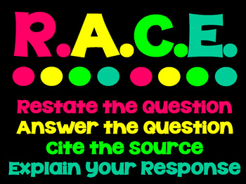 RACE Constructed Response Posters