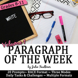 Paragraph of the Week Writing Prompts, High School Set 1, Traditional & Digital
