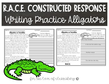 RACE Constructed Response Writing Practice- Alligators