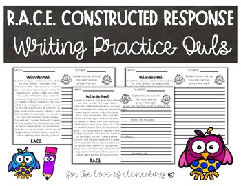 RACE Constructed Response Writing Practice- Owls