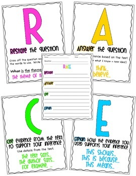 RACE Constructed Response Writing Strategy