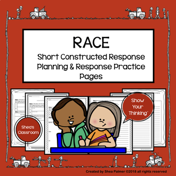RACE Strategy Writing Practice Planning & Response Pages
