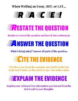 RACE Essay Diagram