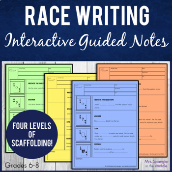 RACE Expository Writing Strategy Pixanotes® ~ EDITABLE