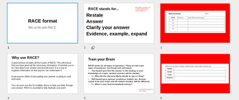 RACE Format and Citations for Short Response Constructed Response