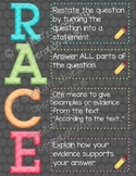 RACE Poster - a strategy for writing and/or answering questions