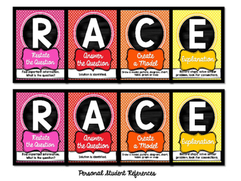 RACE Posters | Math Constructed Responses