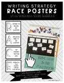 RACE Posters with Writing Sentence Stem Bubbles