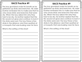 Race Practice Book Constructed Response Practice By Jennifer Findley