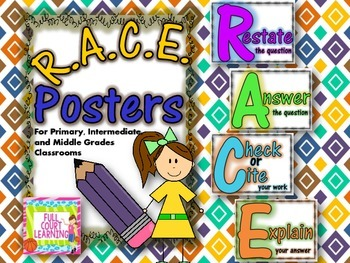 RACE Problem Solving Posters