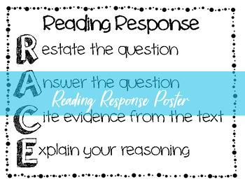 RACE Reading Response Poster