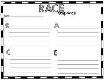 RACE Response Sheet