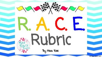 RACE Constructed Response Strategy Rubric FREEBIE