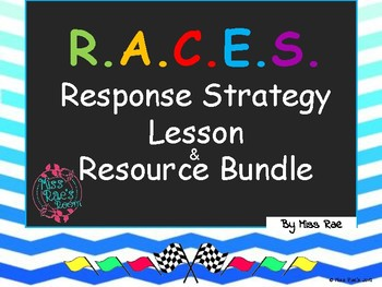 RACE STRATEGY LESSON and RESOURCE BUNDLE l Common Core Aligned