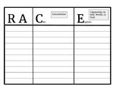 RACE Short Answer T-Chart