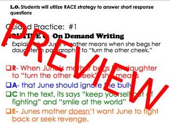 RACE Short Response Strategy