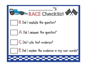 RACE Strategy Checklist