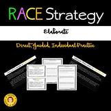 RACE Strategy - Elaborate - Direct, Guided, Individual Practice with Elaboration